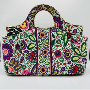 Vera Bradley Abby Quilted Fabric Floral Satchel